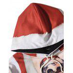 Hooded Father Christmas Costume Tattoo Pattern Hoodie for sale