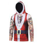 cheap Hooded Father Christmas Costume Tattoo Pattern Hoodie