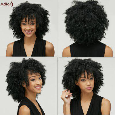 Adiors Fashion Medium Capless Fluffy Afro Curly Heat Resistant Fiber Wig For Women