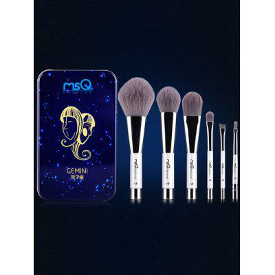 6 Pcs Gemini Magnetic Makeup Brushes Set with Iron Box