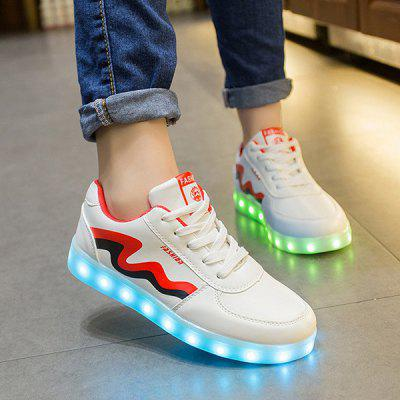 Unisex USB Charging Sports Shoes Flashing Sneakers