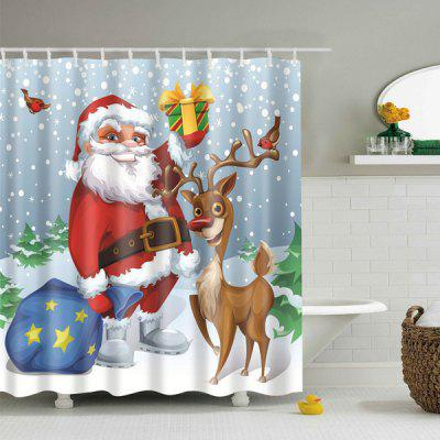 Christmas Gift Elderly Bathroom Polyester Shower Curtain