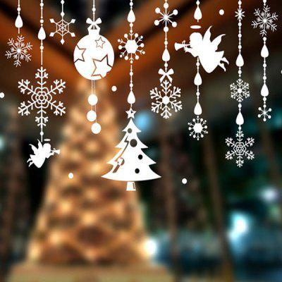 Merry Christmas DIY Pendants Decorative Wall Stickers