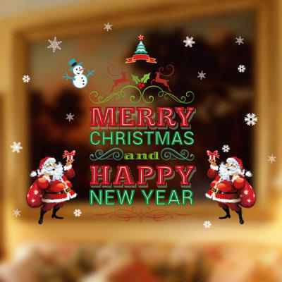 Happy New Year Letter Christmas DIY Removable Wall Stickers