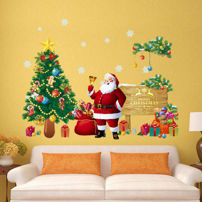Merry Christmas Removable Tree Wall Decal