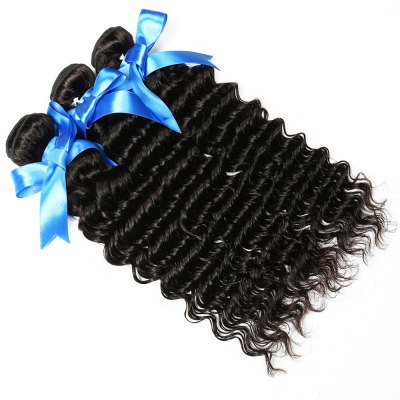 1 Pc/Lot 5A Remy Deep Wave Brazilian Hair Weave
