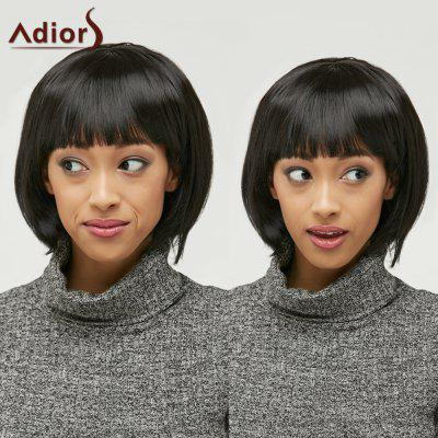Bob Style Straight Black Capless Elegant Short Synthetic Wig For Women