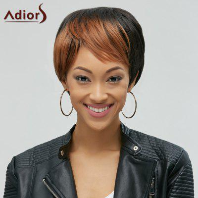 Adiors Hair Mixedcolor Synthetic Side Bang Short Wig