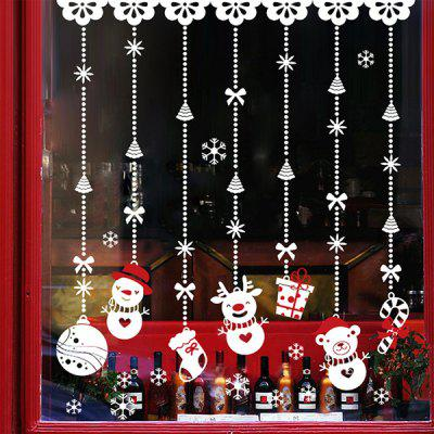 Merry Christmas Snowman Decorative Wall Stickers