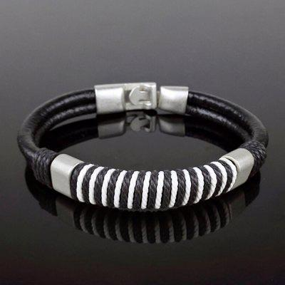 Stylish Woven Rope Faux Leather Bracelet For MenMens Jewelry<br>Stylish Woven Rope Faux Leather Bracelet For Men<br><br>Chain Type: Leather Chain<br>Gender: For Men<br>Item Type: Charm Bracelet<br>Metal Type: Alloy<br>Package Contents: 1 x Bracelet<br>Shape/Pattern: Others<br>Style: Trendy<br>Weight: 0.036kg