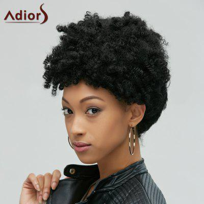 Buy BLACK Fascinating Short Afro Curly Synthetic Capless Wig for $16.30 in GearBest store