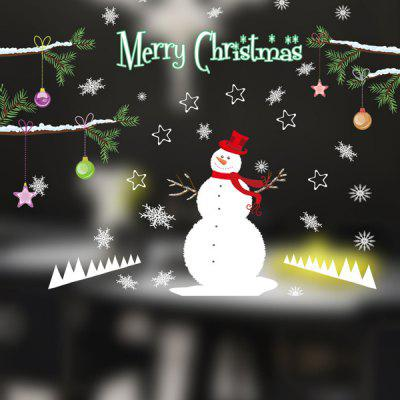 Фото Removable DIY Snowman Pattern Christmas Wall Stickers. Купить в РФ