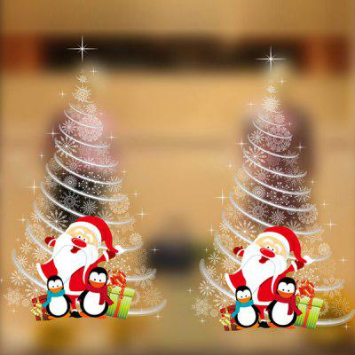 Christmas Tree Wall Stickers Shop Showcase Decoration