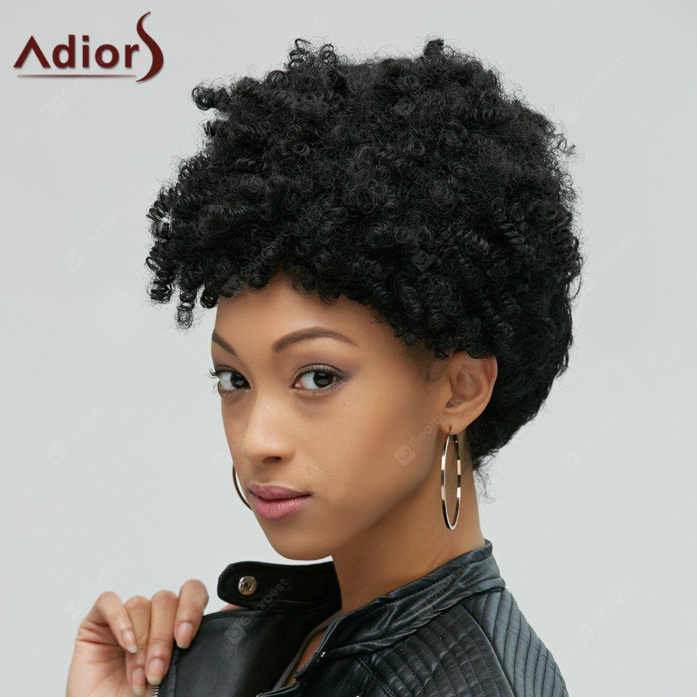 Fascinating Short Afro Curly Synthetic Capless Wig