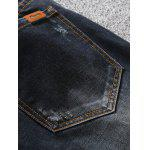 Zip Fly Dark Tapered Denim Jeans for sale