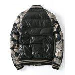 Buy Zip Patch Design Printed Quilted Jacket 2XL