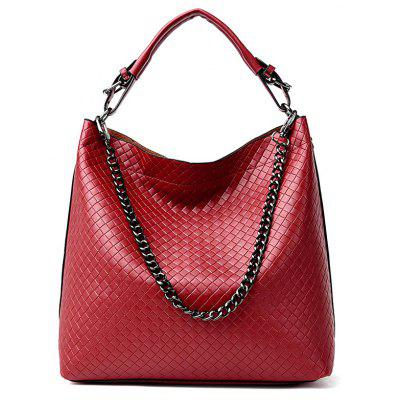 Argyle Double Buckle Tote Bag