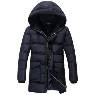 Plus Size Detachable Hooded Thicken Lengthen Quilted Coat