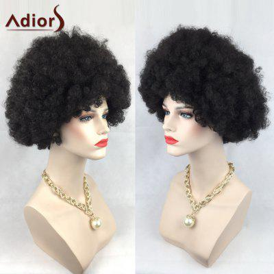 Adiors Short Shaggy Wild-Curl Up Curly Party Synthetic Wig
