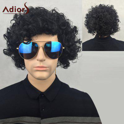 Adiors Short Shaggy Curly Party Synthetic Wig