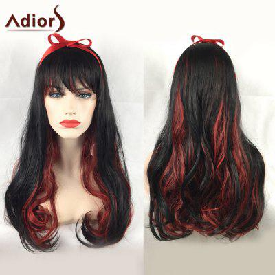 Adiors Long Side Bang Double Color Wavy Party Synthetic Wig