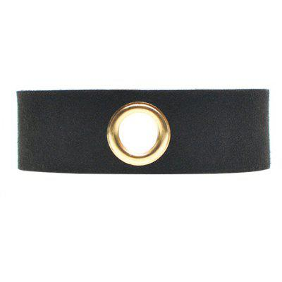 Rivet Hole Velvet Wide Choker