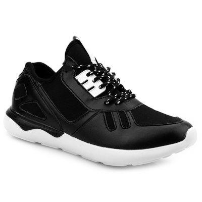 Buy BLACK Colour Block Stretch Fabric Athletic Shoes for $38.13 in GearBest store