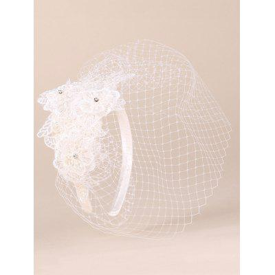 Elegant Lace Flower and Fascinator Veil Design Banquet Party Black Cocktails Hat