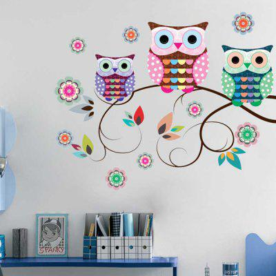 Cartoon Owls Decorative Wall Stickers For Kids Room