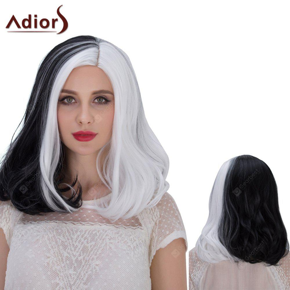 Adiors Hair Double Color Medium Middle Part Straight Cosplay Synthetic Wig