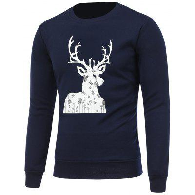 Imprimir Crew Neck camisola do Natal
