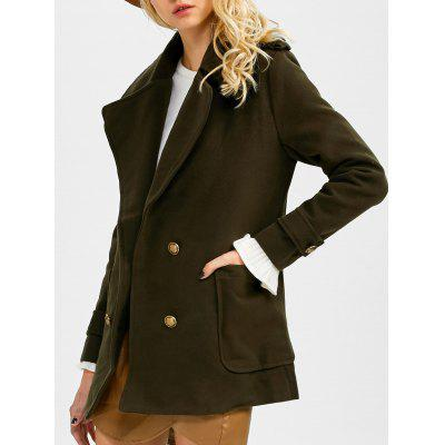 Double Breasted Lapel Pea Coat