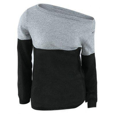 Color Block Off The Sweater Ombro