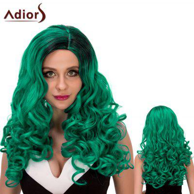 Adiors Long Fluffy Wavy Oblique Parting Cosplay Synthetic Wig