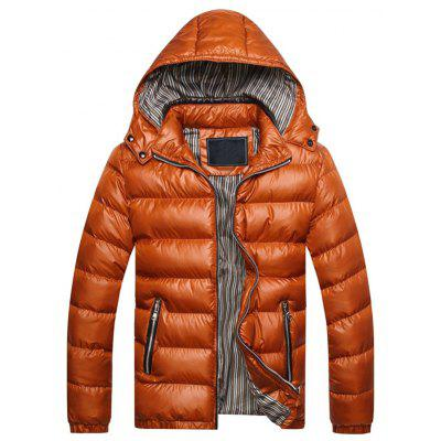 Amovible Zip Hooded Up Épaissir Down Jacket