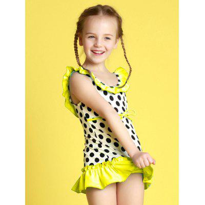 Girls Polka Dot Tankini Set
