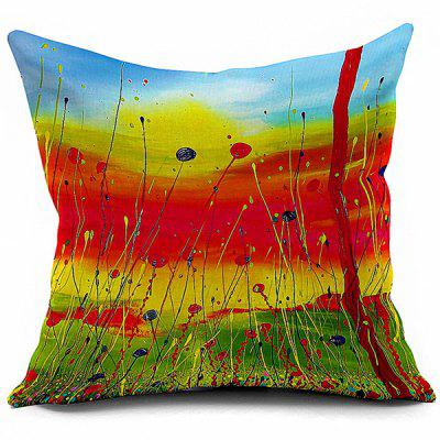 Artistic Painting Sofa Cushion Throw Pillowcase