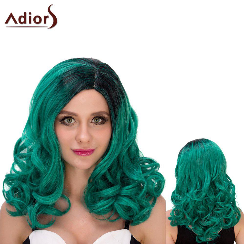 Adiors Lungo Ombre Shaggy ondulate Obliquo Parting Cosplay parrucca sintetica