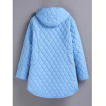 cheap Plus Size Hooded Grid Quilted Coat
