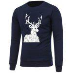 Imprimir Crew Neck camisola do Natal - CADETBLUE