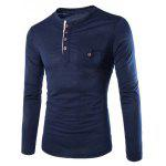 Buy CADETBLUE, Apparel, Men's Clothing, Men's T-shirts, Men's Long Sleeves Tees for $12.27 in GearBest store