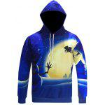 Snowman Print Pullover Christmas Patterned Hoodies - BLUE
