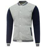 Collare del basamento Bare Babbo Natale Print Jacket Color Block baseball - GRIGIO