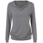 Side Button Sweatshirt - GRAY