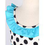 Girls Polka Dot Tankini Set - BLEU