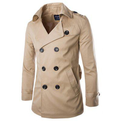 Back Vent Epaulet Design Belted Trench Coat