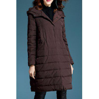 Oversized Hooded Down Coat