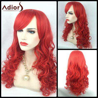 Adiors Long Oblique Bang Wavy Synthetic Party Wig