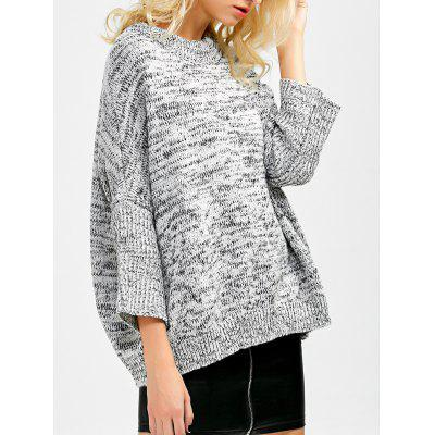Batwing Sleeve Crew Neck Sweater