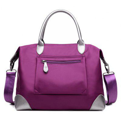 Bolsa Tote Nylon Casual Bloque Color Cierre